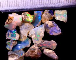 Tot. Cts. 17.50  15 Stones   SA276     Ethiopian Rough Opal