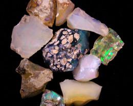 Tot. Cts.50.0    10 Stones   SA 273    Ethiopian Rough Opal