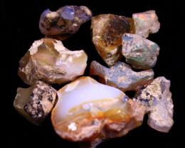 Tot. Cts. 106.0    10 Stones   SA274     Ethiopian Rough Opal