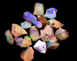 Tot. Cts.  15.80    15Stones   SA277     Ethiopian Rough Opal