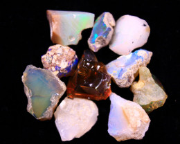 Tot. Cts. 34.50     10Stones   SA 278    Ethiopian Rough Opal