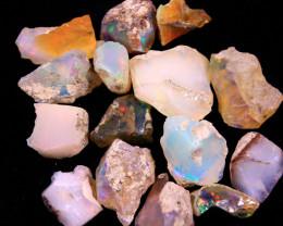 Tot. Cts. 44.40     15Stones   SA279     Ethiopian Rough Opal