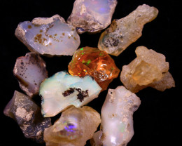 Tot. Cts. 83.0     10 Stones   SA  280   Ethiopian Rough Opal