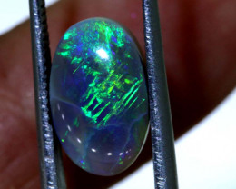 N 4-2.87 CTS  CHINESE WRITING  QUALITY BLACK OPAL POLISHED STONE INV-1124