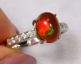 15.76cts Natural Opal 925 Sterling Silver Ring US8.25 /ZA114