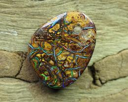amazing gem yowah opal, drilled.