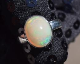 ETHIOPIAN OPAL RING 925 STERLING SILVER JE1401