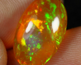 5.00cts Amber Based Green Iridescence Fire Ethiopian Opal