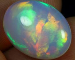 SUPER DEAL 5.25cts Stunning Brush Rainbow Fire Ethiopian Opal