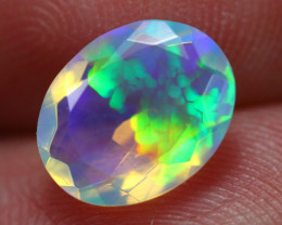 1.57Ct Natural Ethiopian Faceted Blue Crystal Opal ~ D1705