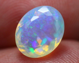 1.91Ct Natural Ethiopian Faceted Blue Crystal Opal ~ D1714