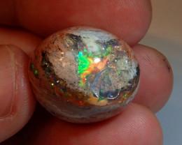 31.07ct Natural Mexican Matrix Cantera Multicoloured Fire Opal