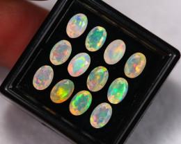 3.65Ct Multi Color Ethiopian Welo Faceted Opal Lot ~ C1805
