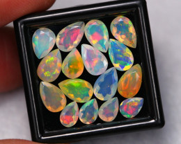 6.65Ct Multi Color Ethiopian Welo Faceted Opal Lot ~ C1806