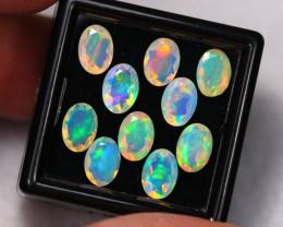 4.80Ct Multi Color Ethiopian Welo Faceted Opal Lot ~ C1807