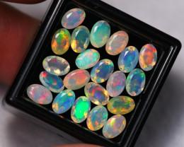 7.65Ct Multi Color Ethiopian Welo Faceted Opal Lot ~ C1811