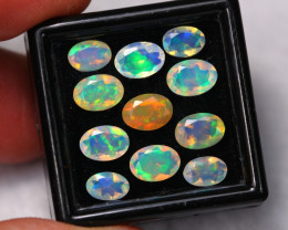 5.00Ct Multi Color Ethiopian Welo Faceted Opal Lot ~ C1812