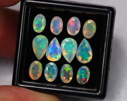 4.05Ct Multi Color Ethiopian Welo Faceted Opal Lot ~ C1804