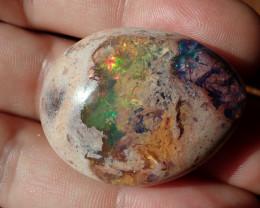 82.5ct Natural Mexican Matrix Cantera Multicoloured Fire Opal