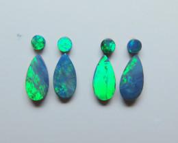 10 x 5mm & 3mm   8 Stone Australian Doublet Opal Parcel