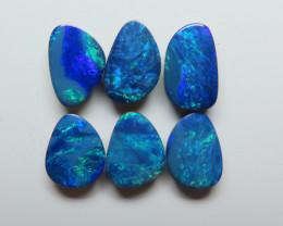10 x 8mm 6 Stone Australian Doublet Opal Parcel