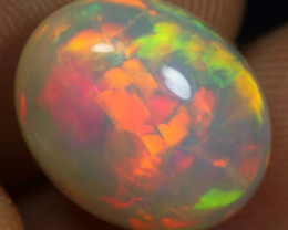 5.50cts 5/5 Broad Multi Neon Fire Ethiopian Opal