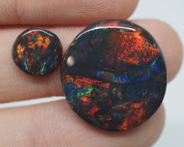12.25CT Black Opal Pair Lightning Ridge  DM4