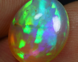 3.20cts Superb Strong Neon Fern Pattern Ethiopian Opal