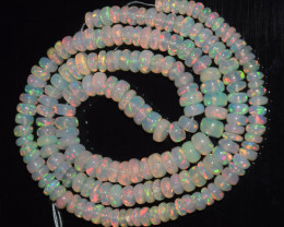 48.55 Ct Natural Ethiopian Welo Opal Beads Play Of Color