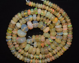 45.40 Ct Natural Ethiopian Welo Opal Beads Play Of Color