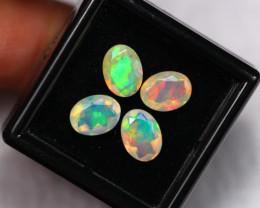 3.42Ct Multi Color Ethiopian Welo Faceted Opal ~ D1905