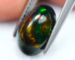 2.06Ct Patchwork PatternEthiopian Welo Smoked Opal ~ D1906