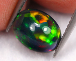 1.52Ct Welo Broadflash Pattern Ethiopian Welo Smoked Opal ~ D1908