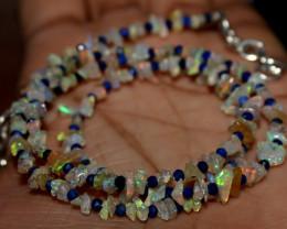 26 Crt Natural Ethiopian Welo Fire Uncut Opal & Lapis Lazuli Beads 3