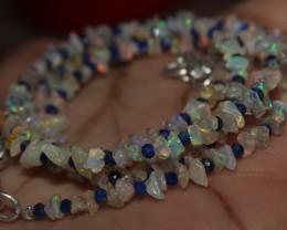 25 Crt Natural Ethiopian Welo Fire Uncut Opal & Lapis Lazuli Beads 11