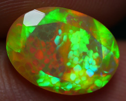 1.95 CRT AMAZING HONEYCOMB NEON BRIGHT FACETED WELO OPAL