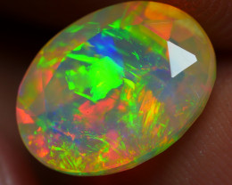 1.95 CRT BEAUTIFUL RAINBOW FACETED FULL COMPLETE COLOR WELO OPAL