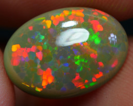 2.05 CRT WONDERFUL MICRO HONEYCOMB PIN FIRE PATTERN WELO OPAL-