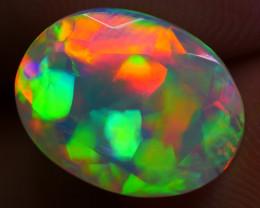 1.75 CRT WONDERFUL FACETED 3D PRISM RAINBOW COMPLITE COLOR WELO OPAL