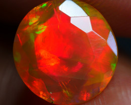 1.30 CRT RED NEON 5/5 FULL DELUXE FACETED DRAK BASE WELO OPAL