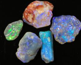 39ct -HAND CUTTERS PARCEL- Lightning Ridge Opal [20687]