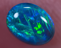 BLACK OPAL LIGHTNING RIDGE NATURAL SOLID 1.00ct GEM BOPC180119