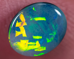 BLACK OPAL LIGHTNING RIDGE SOLID 1.45ct GEM $1 N/R AUCTION B0180119