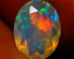 9X7 MM AAA Faceted Cut Ethiopian Opal-JA561