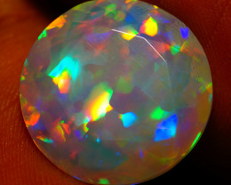 8.63 CT RARE!!  Quality Faceted Cut Ethiopian Opal-BAA72