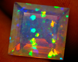 5.12 CT PINFIRE!! TOP Quality Faceted Cut Ethiopian Opal-BAA77