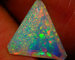 3.52 CT CUSTOM CUT!! PINFIRE! Quality Faceted Cut Ethiopian Opal-BAA80