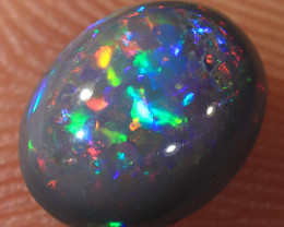 1.2ct 7.3x5.7mm Solid Lightning Ridge Dark Opal [LO-1395]