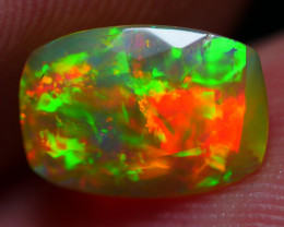 1.35 CRT GORGEOUS BROADFLASH FIRE MULTICOLOR FACETED WELO OPAL