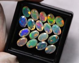 5.25Ct Multi Color Ethiopian Welo Faceted Opal ~ D2112